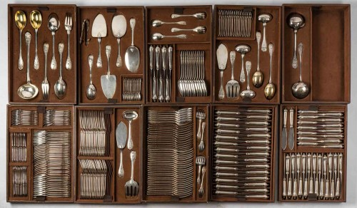 Puiforcat Paris Elysée Cutlery Set - 258 Pieces + 35 Servin -