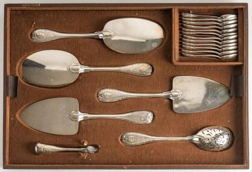 Antiquités - Puiforcat Paris Elysée Cutlery Set - 258 Pieces + 35 Servin