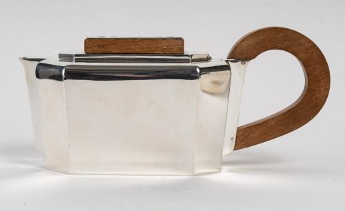 1937 Jean E. Puiforcat - Tea And Coffee Service - Antique Silver Style Art Déco