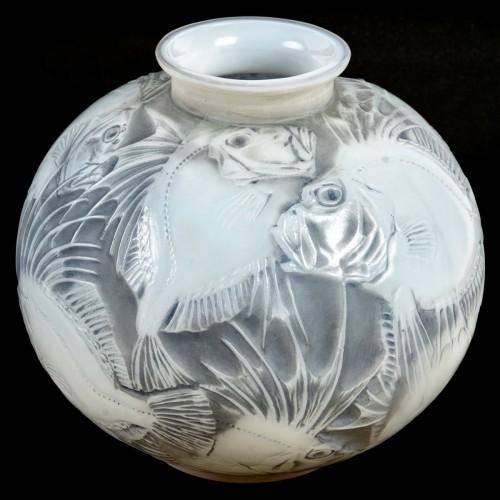 1921 René Lalique - Vase Poissons Cased - Glass & Crystal Style Art Déco