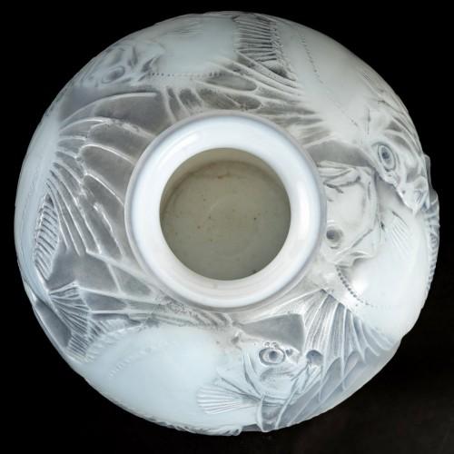 Art Déco - 1921 René Lalique - Vase Poissons Cased