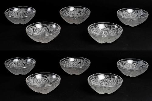 1924 René Lalique - Set Of 10 Coquilles Hand Bowl  - Art Déco