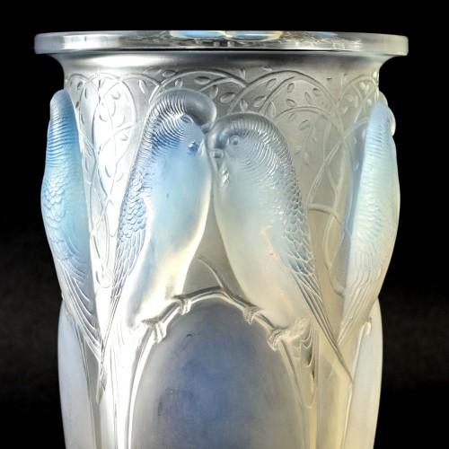 1924 René Lalique - Vase Ceylan - Glass & Crystal Style Art Déco