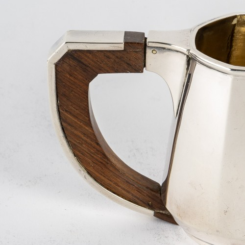 1920 Jean E. Puiforcat - Tea And Coffee Set In Sterling Silver And Rosewood - Art Déco