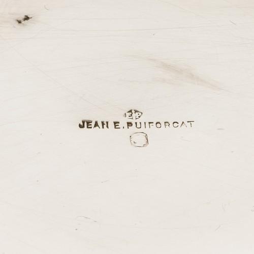 1930 Jean E. Puiforcat - Tea & Coffee Egoiste Set Sterling Silver Rosewood - Art Déco
