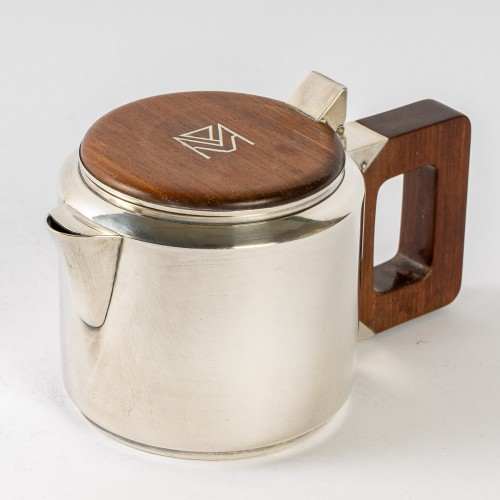 Antiquités - 1930 Jean E. Puiforcat - Tea & Coffee Egoiste Set Sterling Silver Rosewood
