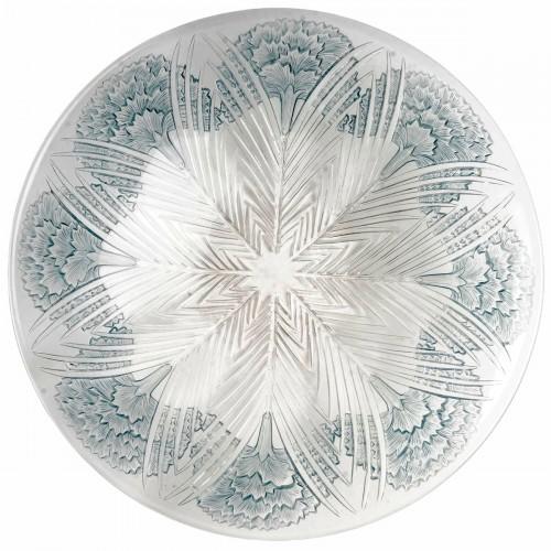 """1932 René Lalique - """"Oeillet"""" Bowl Plate"""