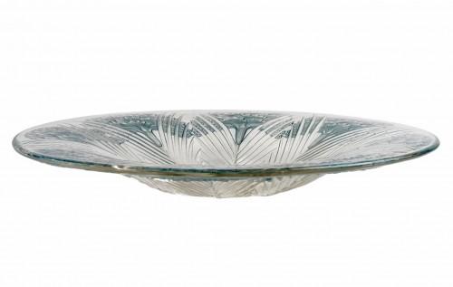 """1932 René Lalique - """"Oeillet"""" Bowl Plate - Glass & Crystal Style Art Déco"""