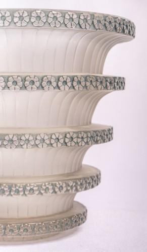 """1930 René Lalique - """"Chevreuse"""" Vase - Art Déco"""