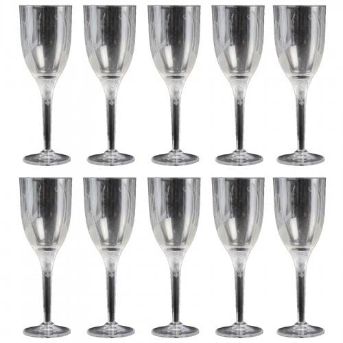 1950 Marc Lalique 10 Champagne Flutes Glasses Ange De Reims Crystal