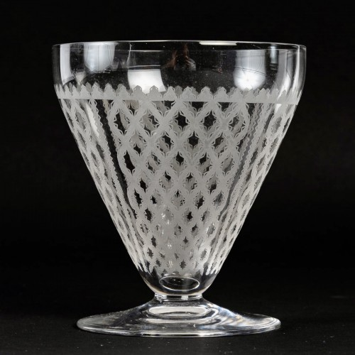 1920 Baccarat Set Engraved Crystal Alhambra Glasses 56 Glasses -