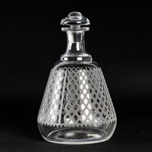 1920 Baccarat Set Engraved Crystal Alhambra Glasses 56 Glasses - Art Déco