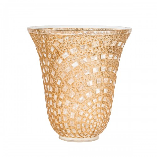 1935 René Lalique - Vase Damiers In