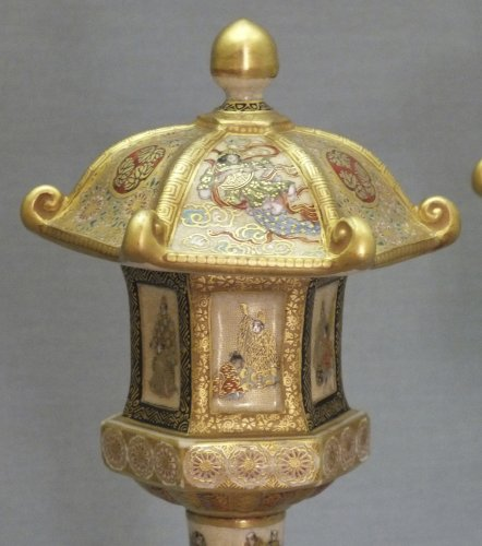 19th century - Satsuma (japan) - a pair of lanterns - Ép meiji - nineteenth century