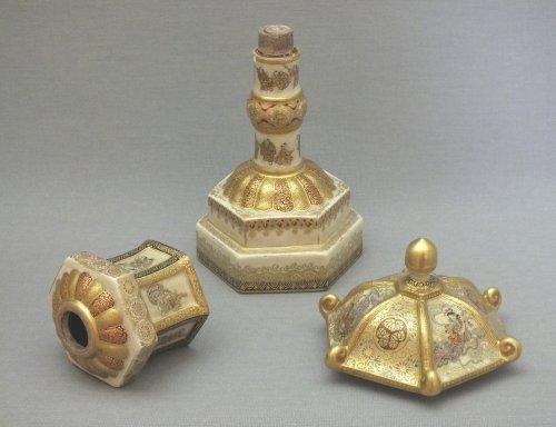 Satsuma (japan) - a pair of lanterns - Ép meiji - nineteenth century -