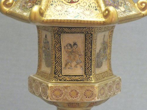 - Satsuma (japan) - a pair of lanterns - Ép meiji - nineteenth century