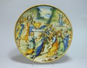 "Urbania - istoriato decor bowl ""the adoration of the golden calf"" 17th century"