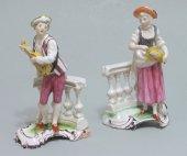 Niderviller - pair of earthenware statuettes - eighteenth century