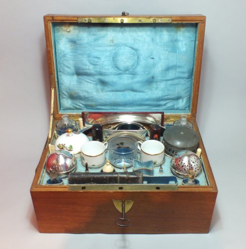 Large travel kit necessairre circa 1800