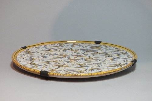 Dish with decoration of grotesques - XVIIth Century -