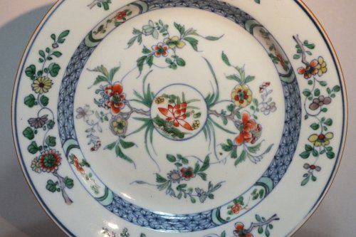 "CHINA - enamels Plate ""Doucai"" - Yongzheng Period (1723-1735) - Asian Art & Antiques Style"