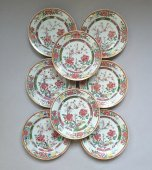 CHINA - East India Company. Set of eight plates - Qianlong Period