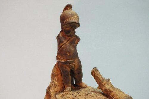 "Louis XVI - Pair of terracotta statuettes ""Children Natural History» by Boizot"