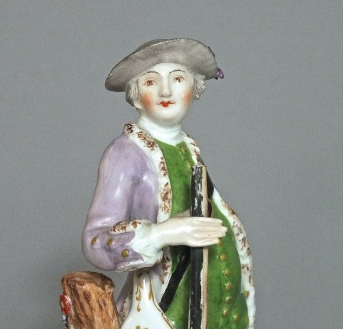 Meissen Statuette of a hunter eighteenth century 1755 to 1760 - Porcelain & Faience Style Louis XV