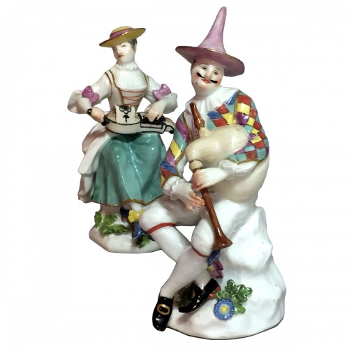 Meissen - Harlequin and Columbine - j.j Kandler - 18th century