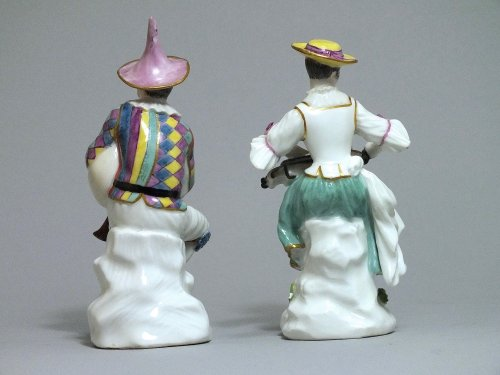 Porcelain & Faience  - Meissen - Harlequin and Columbine - j.j Kandler - 18th century
