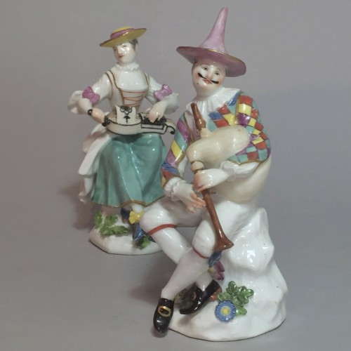 Louis XV - Meissen - Harlequin and Columbine - j.j Kandler - 18th century