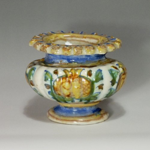 Marche (Pesaro or Duchy of Urbino) - salt cellar oval - seventeenth century