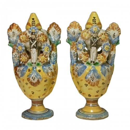 Pair of vases - Ariano Irpino (Italy) circa 1800