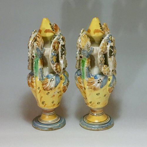 Pair of vases - Ariano Irpino (Italy) circa 1800 -