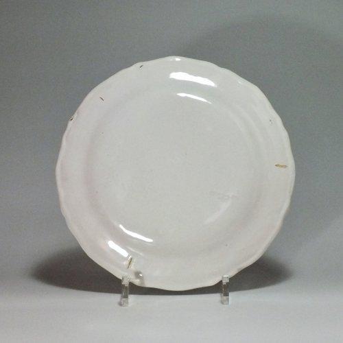 Porcelain & Faience  - 18th century Moustiers plate