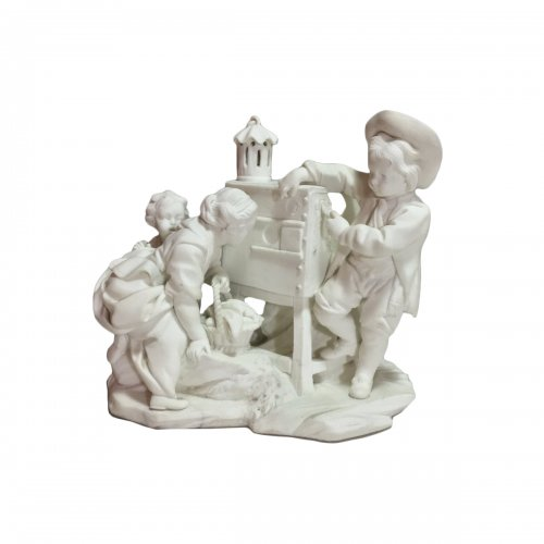 "Sèvres biscuit group ""The Magic Lantern"" 18th century"