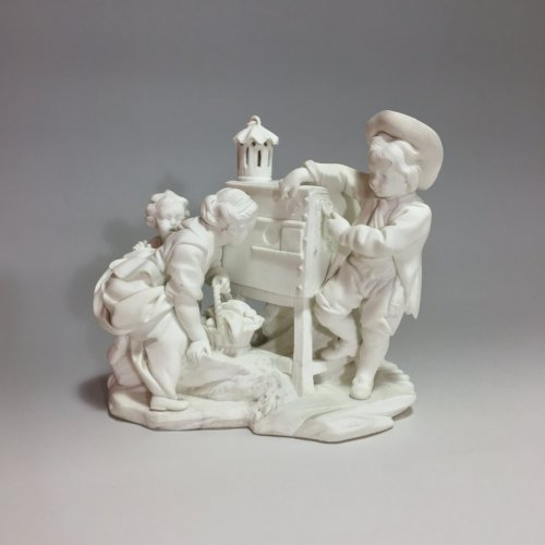 "Sèvres biscuit group ""The Magic Lantern"" 18th century - Porcelain & Faience Style Louis XV"