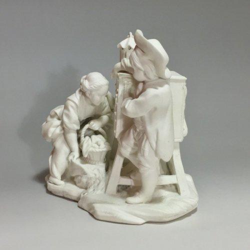 "Louis XV - Sèvres biscuit group ""The Magic Lantern"" 18th century"