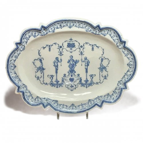 Moustiers or Lyon - Dish with Berain Eighteenth century