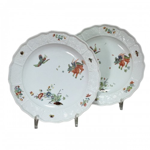 Pair of plates with Kakiemon decoration - Meissen 18th  century