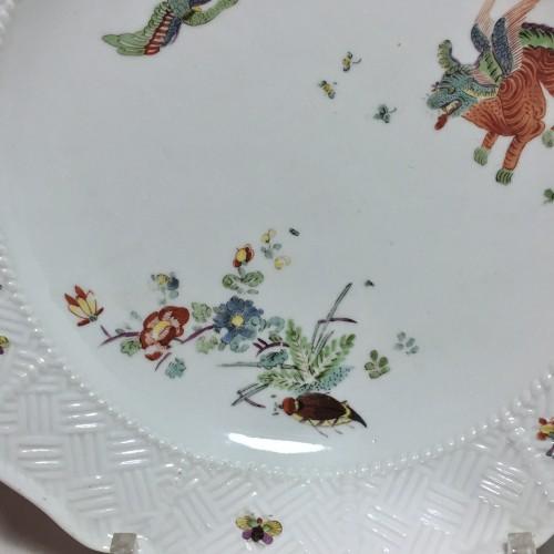 18th century - Pair of plates with Kakiemon decoration - Meissen 18th  century