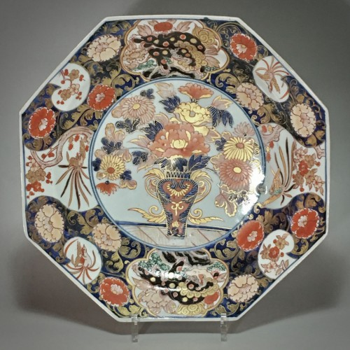 Pair of large dishes with imari decoration - Japan Early eighteenth century - Porcelain & Faience Style French Regence