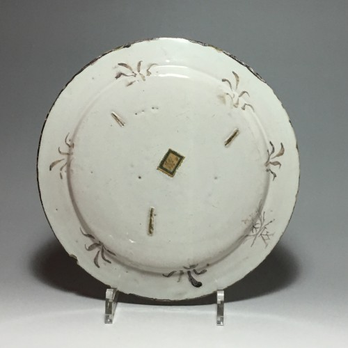 Small earthenware dish from Pavia - late 17th - early 18th century - Porcelain & Faience Style Louis XIV