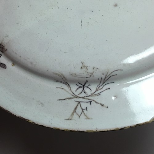 Small earthenware dish from Pavia - late 17th - early 18th century -