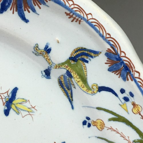 Porcelain & Faience  -  Dish decorated with Chinese - Moulins 18th century