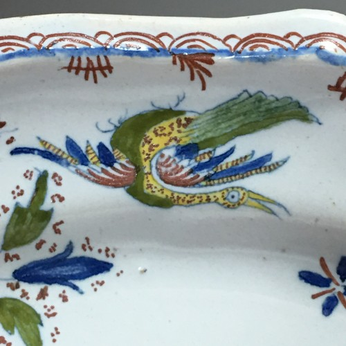 Dish decorated with Chinese - Moulins 18th century -