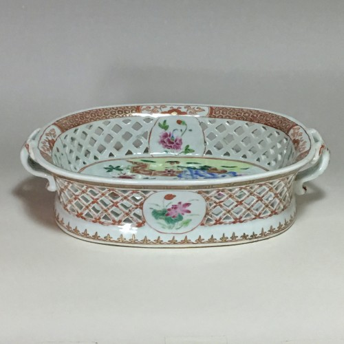openwork baskets family rose - India company 18th century -