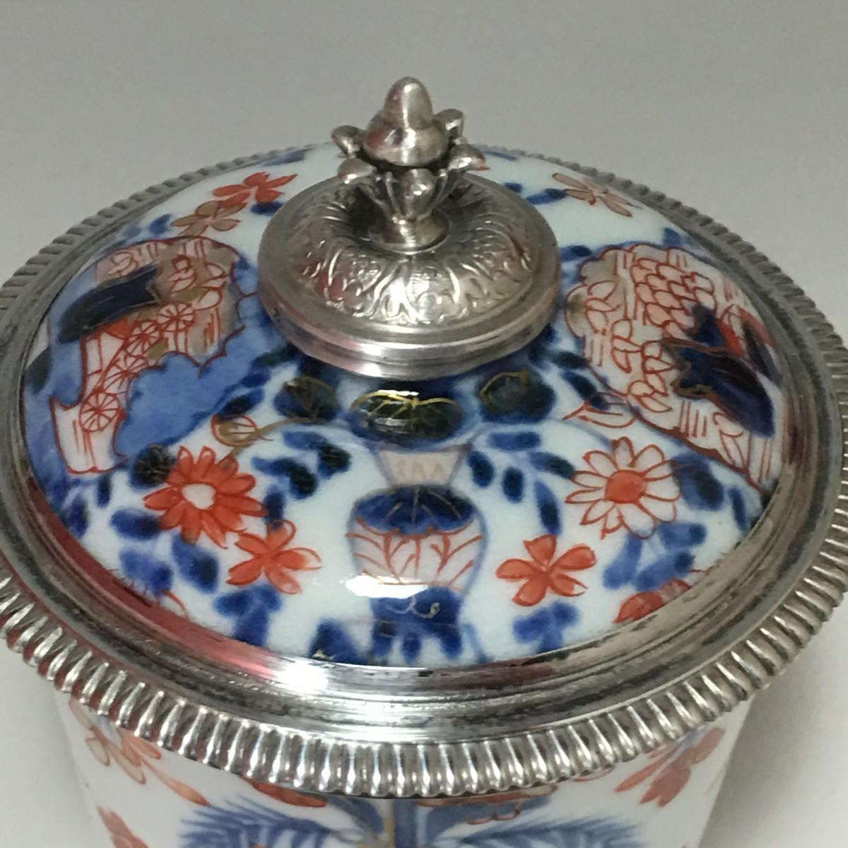 Paris Porcelain Art Nouveau Period Lamp Chinese Taste: Paris 1722-1726
