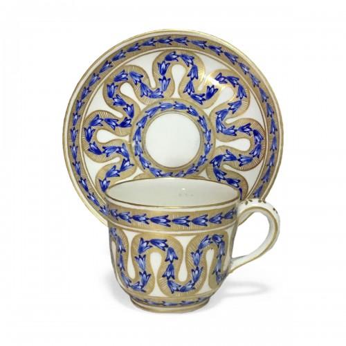 "Sèvres Cup and saucer called ""Goblet Bouillard"" - eighteenth century"