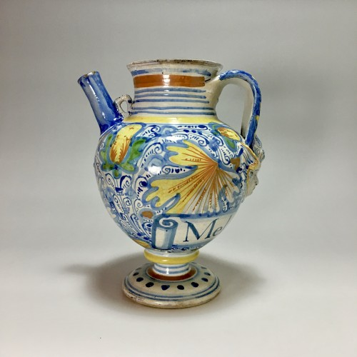 Rare jug in majolica from Montpellier - Late 16th early 17th century -